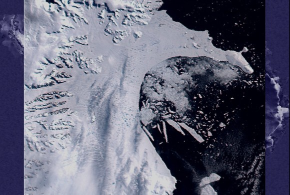Larsen B Ice Shelf. Image credit: NASA