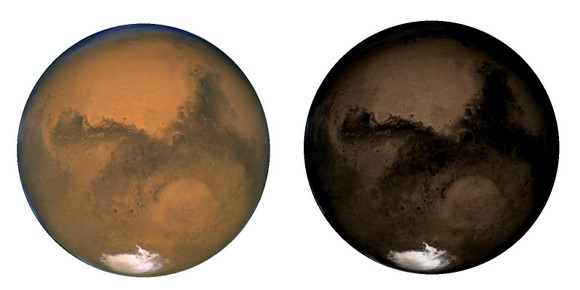 Should Mars really be black? Credit: NASA/Mars Simulation Laboratory