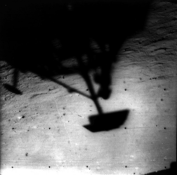 Surveyor 1 took its own picture on the Moon back in 1966. Credit: NASA