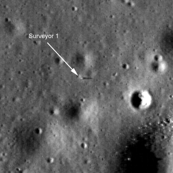 LROC image of Surveyor 1 on the Moon. NASA/GSFC/Arizona State University