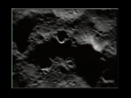 A closer view of the moon as the LCROSS spacecraft approaches impact.  Credit: NASA