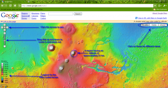 Google Mars screen capture