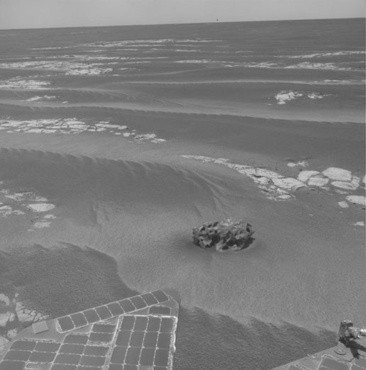 Another Mars meteorite seen by Opportunity.  Image Credit: NASA/JPL-Caltech 