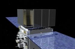 Artist concept of Fermi in space. Credit: NASA