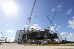 The new Ares mobile launcher, as it looked under contruction in Sept. 2009. Credit: NASA