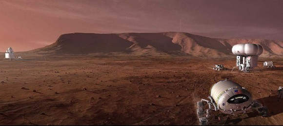 NASA concept of a mission to Mars. Credit: NASA