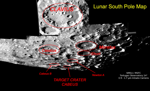 LCROSS impact site.  Credit: NASA