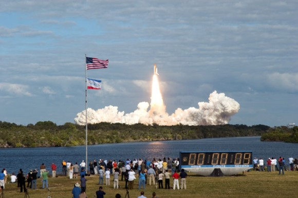 Atlantis' launch with Twitterers.  Photo credit:Jim Grossmann