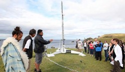 The first rocket launched by a private space company from New Zealand was attended by a crowd of abo