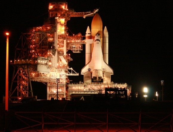 Space Shuttle Atlantis is poised for launch at 2:28 PM from Pad 39 A on 16 November 2009. Credit: Ken Kremer  
