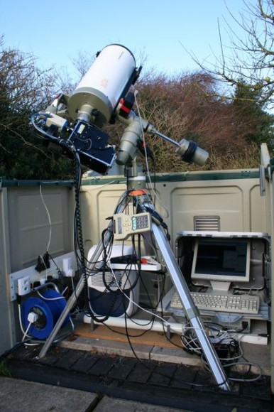 Robin Leadbeater's telescope with LHRESIII spectrograph