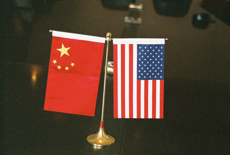 Flags of China and the US