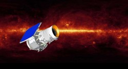 An artist's rendering of the WISE satellite, which will survey the sky in the infrared. Image Credit: NASA/JPL