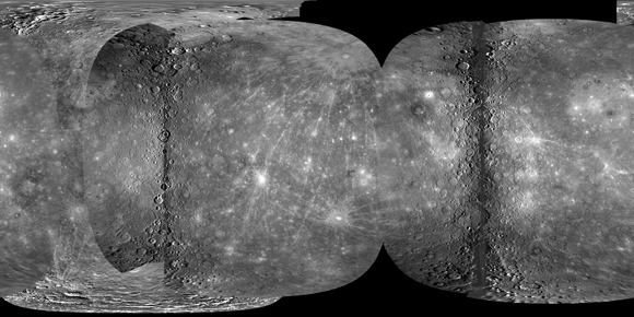 Mercury global mosaic. Credit: NASA/Johns Hopkins University Applied Physics Laboratory/Carnegie Institution of Washington/U. S. Geological Survey/Arizona State University