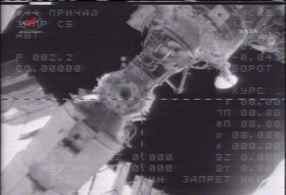 The Soyuz crew initiates a 15 second separation burn as they undock and pull away from the ISS.