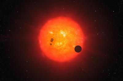 Artist impression of how the newly discovered super-Earth surrounding the nearby star GJ1214 may look.  Credit: ESO/L. Calçada