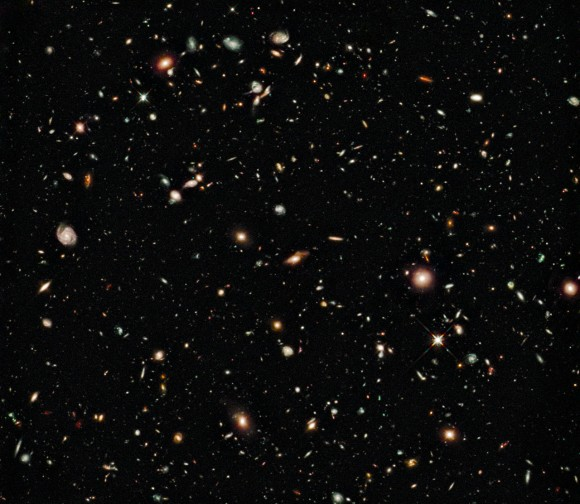 Hubble Ultra Deep Field Infrared.  Credit: NASA, ESA, G. Illingworth (UCO/Lick Observatory and the University of California, Santa Cruz), R. Bouwens (UCO/Lick Observatory and Leiden University) and the HUDF09 Team