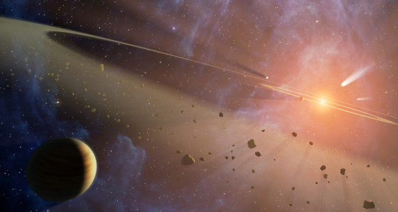 Artist impression of the Late Heavy Bombardment period. Credit: NASA