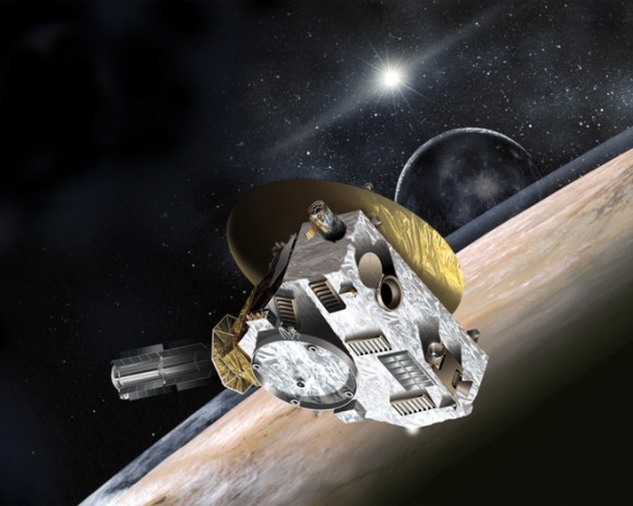 Artist concept of the New Horizons spacecraft. Credit: NASA