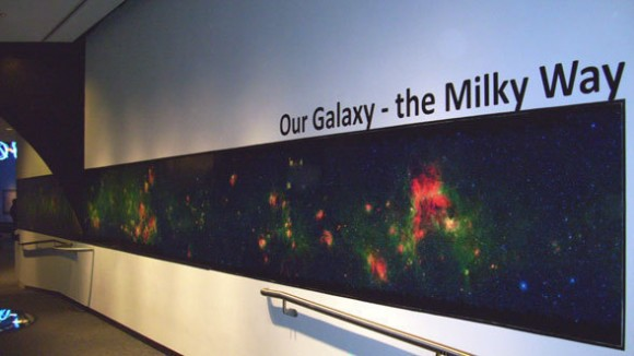Spitzer infrared image on display at the Adler Planetarium.  Credit: Adler