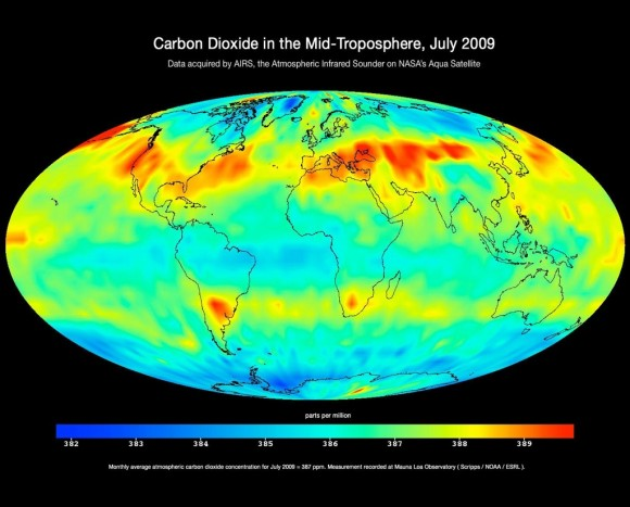 Global carbon dioxide pollution