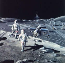 Buildings on The Moon