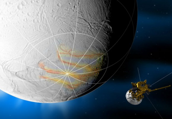 Cassini Begins Transmitting Data From Enceladus Flyby