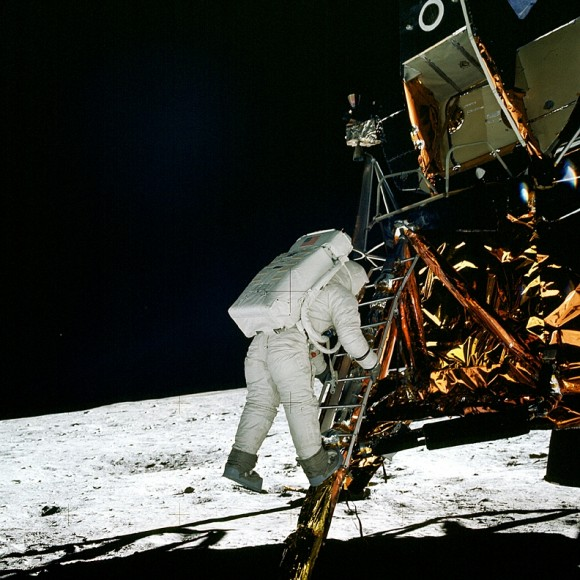 Aldrin joined Armstrong on the surface