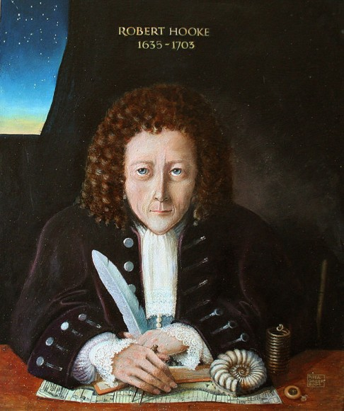 A historical reconstruction of what Robert Hooke looked like. Credit: Wikipedia/Rita Greer/FAL