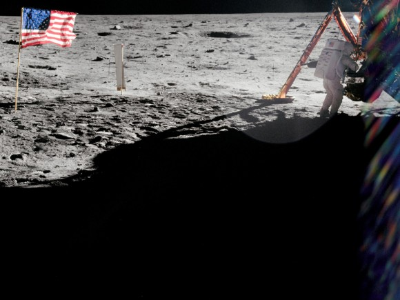 Pictures of Neil Armstrong on the Moon