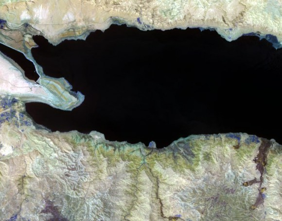ASTER image of Dead Sea
