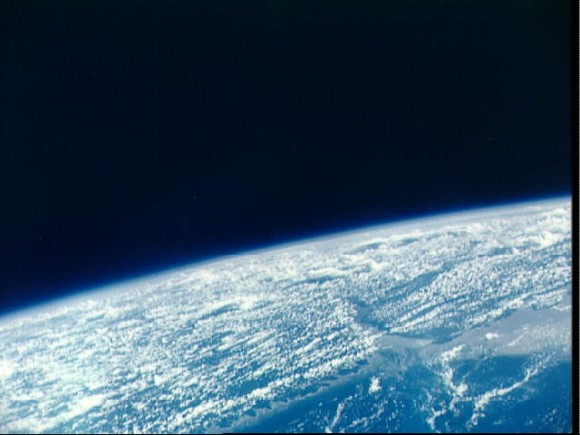 Mouth of Amazon River, Brazil as seen from the Gemini 9-A spacecraft