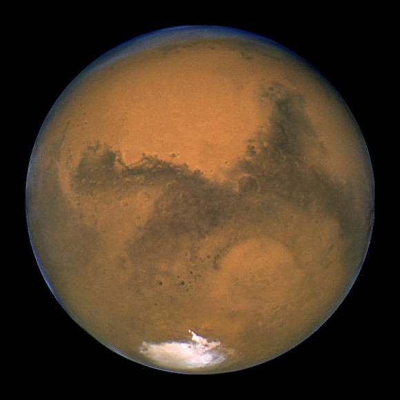 NASA's Hubble Space Telescope took this close-up of the red planet Mars