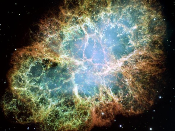 The Crab Nebula. Image credit: Hubble