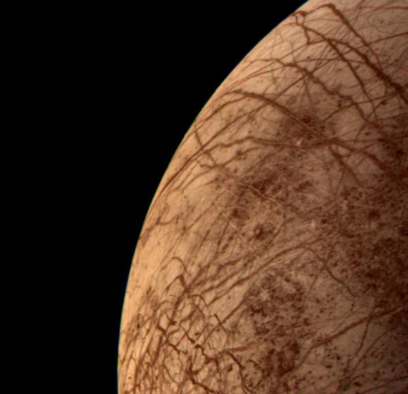 Europa During Voyager 2 Closest Approach