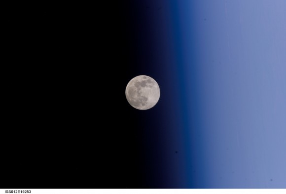 Full Moon Against Earth's Limb