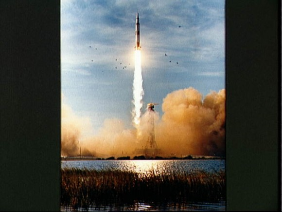 Launch of Apollo 8 lunar orbit mission