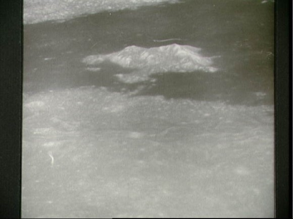 Oblique view of the lunar surface