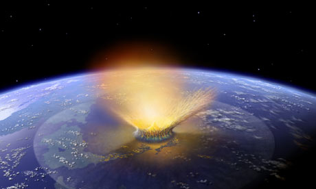 Computer generated simulation of an asteroid strike on the Earth. Credit: Don Davis/AFP/Getty Images