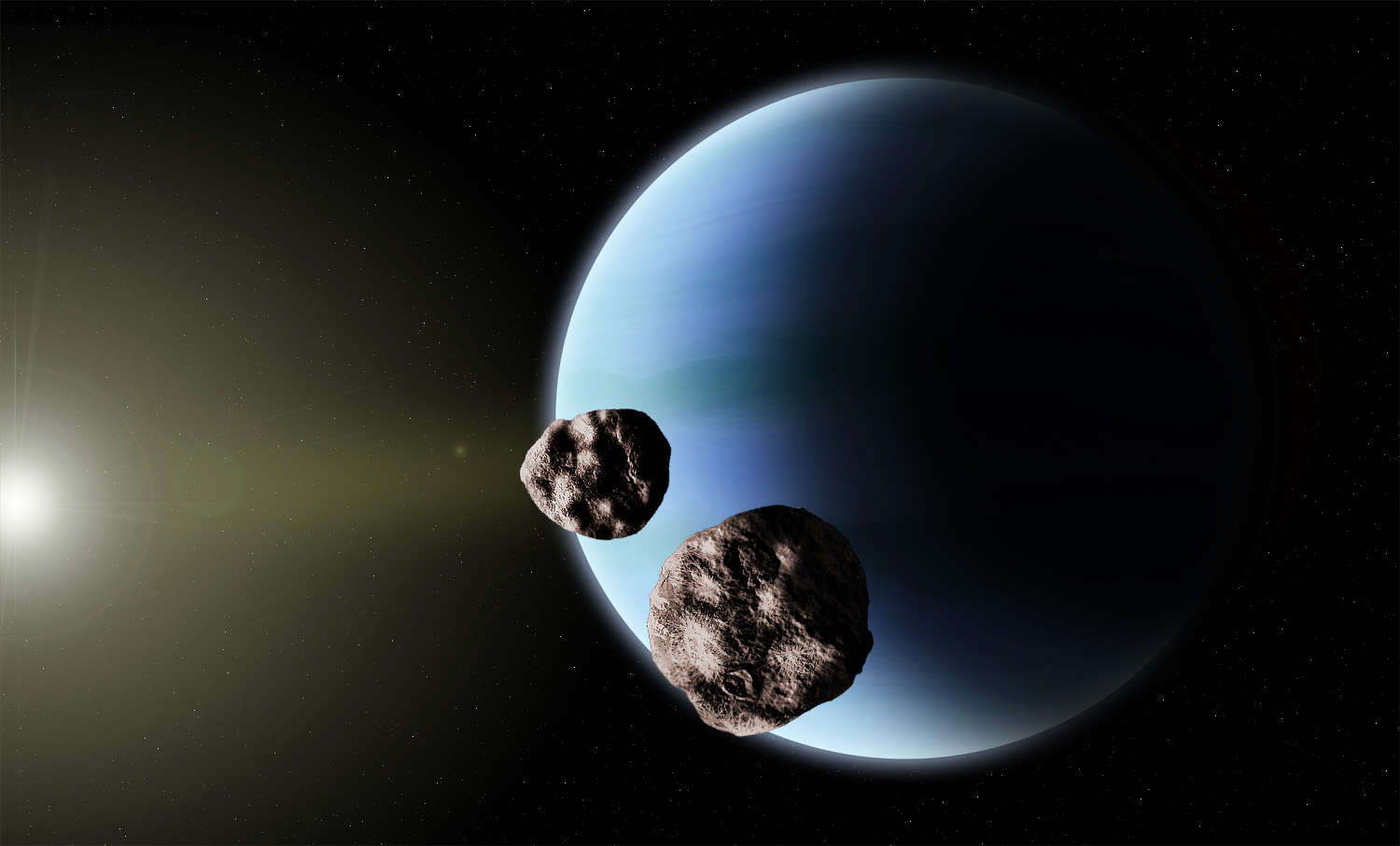 planet neptune Neptune is the eighth planet from the sun the only planet farther from the sun is  pluto every 248 years, pluto travels inside neptune's orbit for about a 20 year.