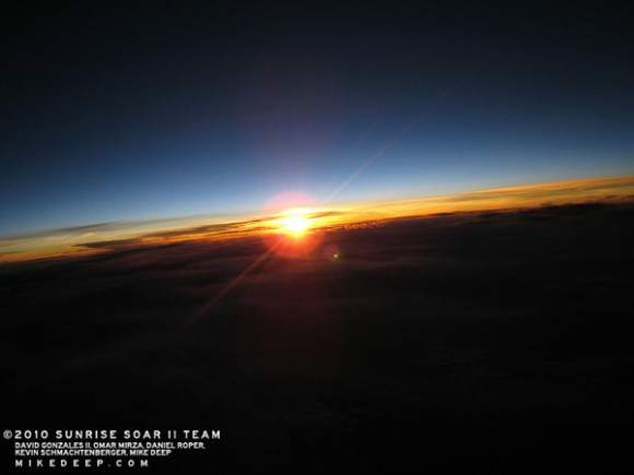 A sunrise from the edge of space. Credit: Project Soar
