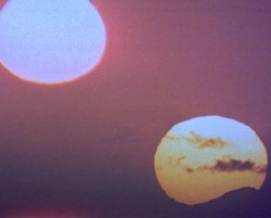 Binary Sunset as seen on Tatooine