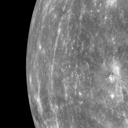 From Orbit, Looking toward Mercury's Horizon. Credit: NASA/Johns Hopkins University Applied Physics Laboratory/Carnegie Institution of Washington