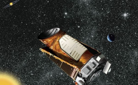 Artist&#039;s concept of Kepler in action. NASA/Kepler mission/Wendy Stenzel.