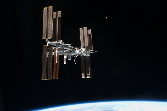 A view of the International Space Station as seen by the last departing space shuttle crew, STS-135. Credit: NASA