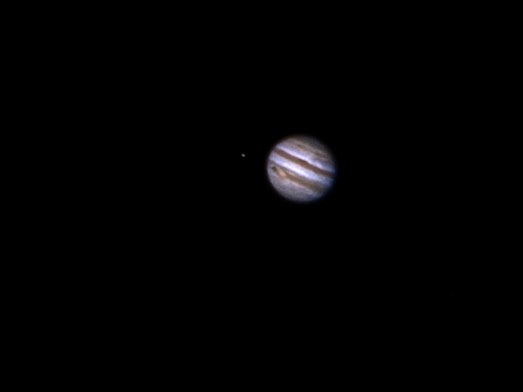 Astrophoto: Jupiter, Io and the Great Red Spot by Richard S. Wright Jr.