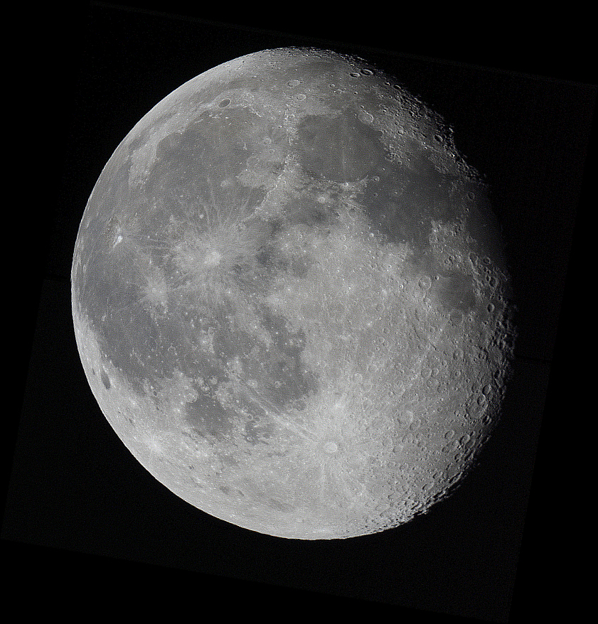What does a waning gibbous look like