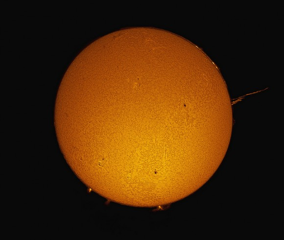 Full DisK H-Alpha Solar Image on October 13, 2011 - Credit: Joe Brimacombe
