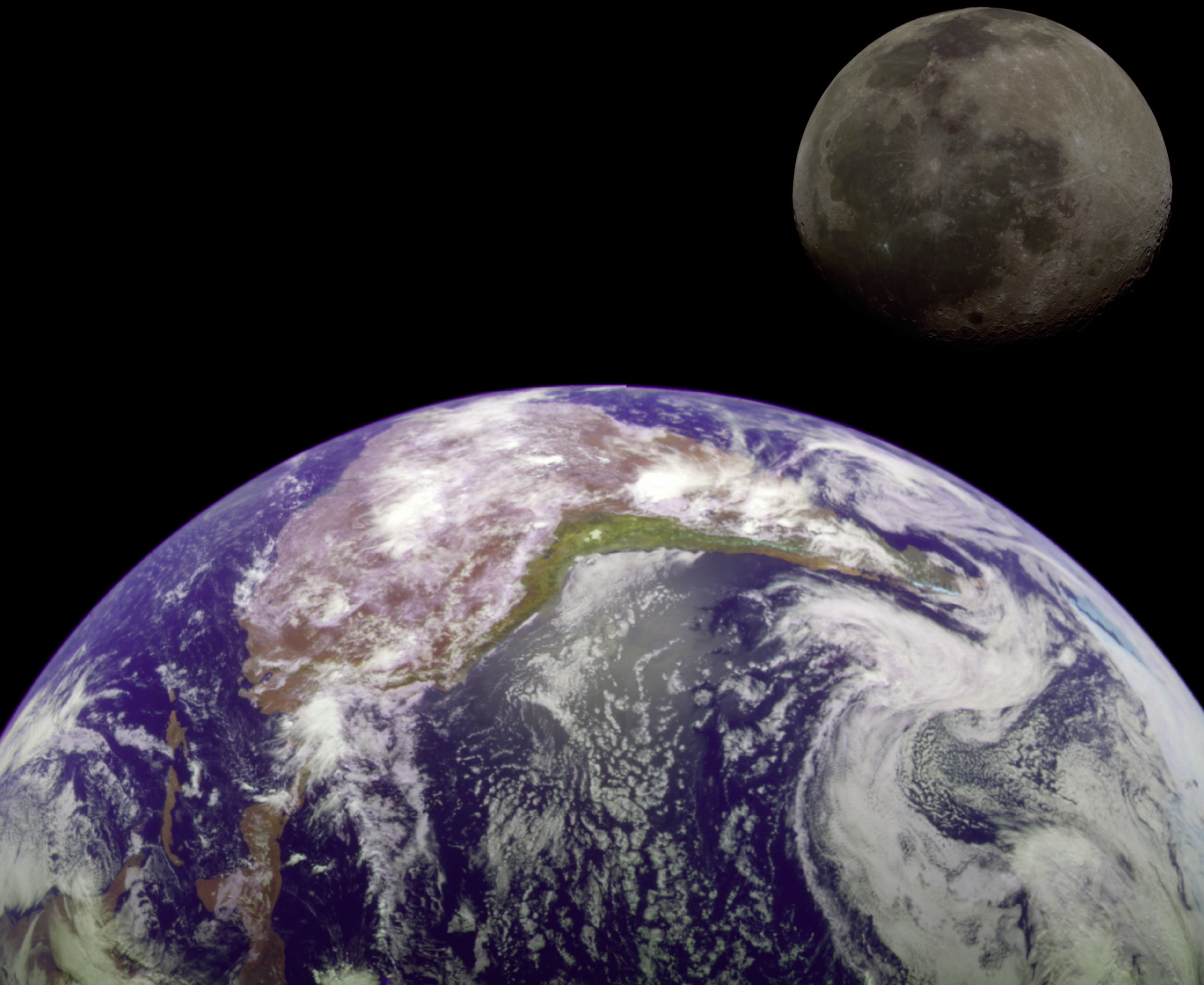 Real Earth Space Moon - Pics about space