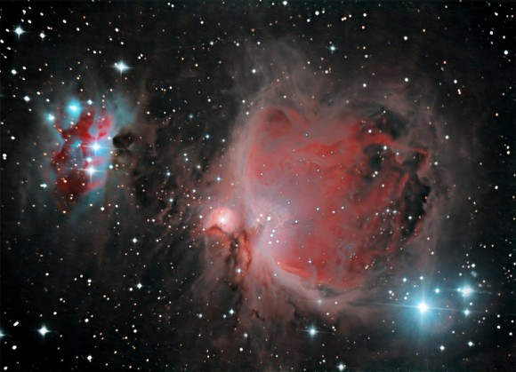 Orion and Running Man Nebulae by Brendan Alexander